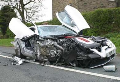 سيارة نسيم بعد الحادث