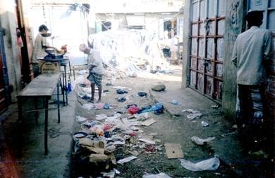 القمامة تتوسط أحد شوارع المديرية