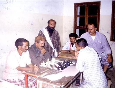 لعبة الشطرنج في نادي الجزيرة بصلاح الدين