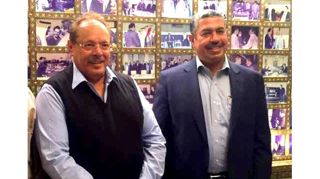 صورة من الارشيف للقاء الأول لخالد بحاح وعلي ناصر في القاهرة