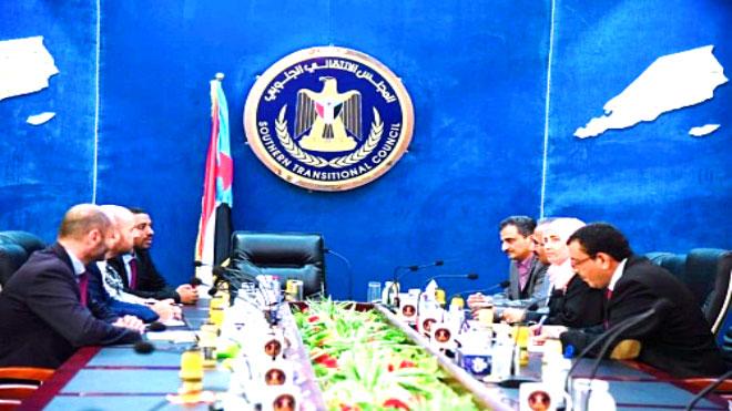 المجلس الانتقالي خلال لقاءها بالوفد الاممي للشؤون الانسانية