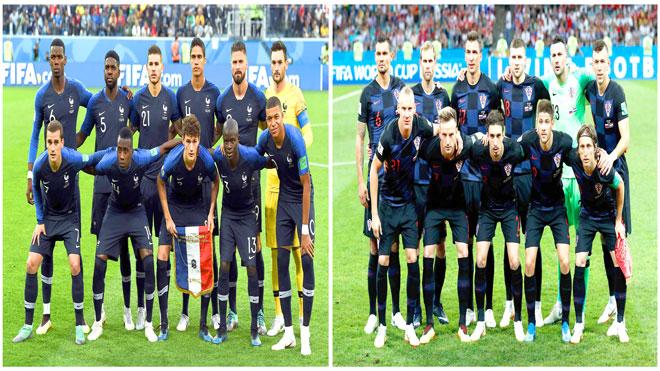 منتخبي فرنسا وكرواتيا