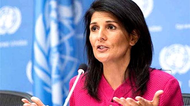 السفيرة الأميركية في المنظمة الدولية نيكي هايلي