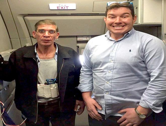 من اليسار خاطف الطائرة المصرية سيف الدين مصطفى