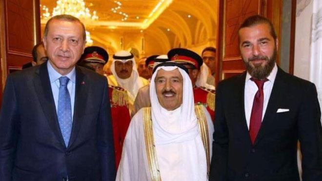 """أمير الكويت وأردوغان وبطل مسلسل """"قيامة أرطغرل"""""""