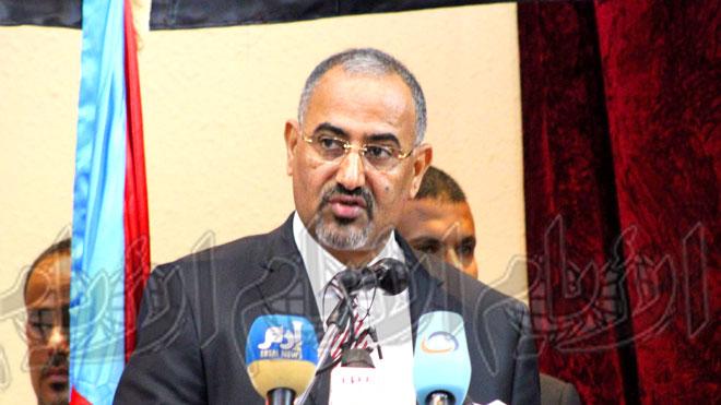 رئيس المجلس الانتقالي الجنوبي اللواء عيدروس الزبيدي