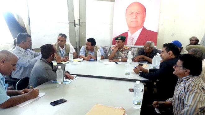 خلال لقاء محافظ الضالع مع ممثلي الأمم المتحدة أمس