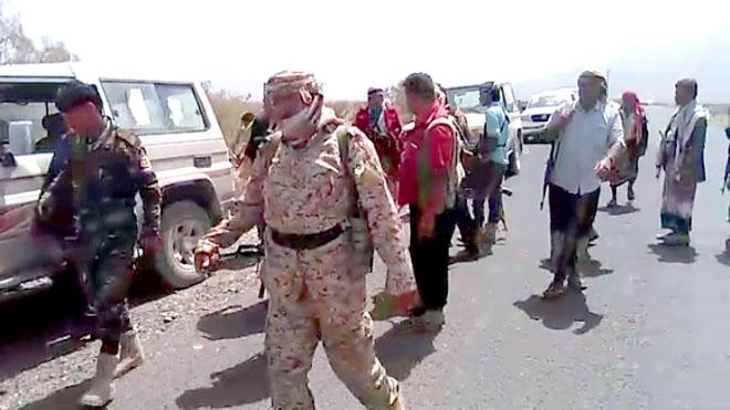 المقاومة والجيش بمديرية الحشاء غرب مدينة الضالع