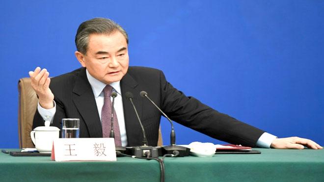 وزير الخارجية الصيني وانغ يي يجب على أسئلة متعلقة بالدعوى القضائية التي رفعتها هواوي ضد الولايات المتحدة
