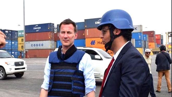 بريطانيا: أطراف النزاع تلقت رسالة هانت من عدن بإيجابية