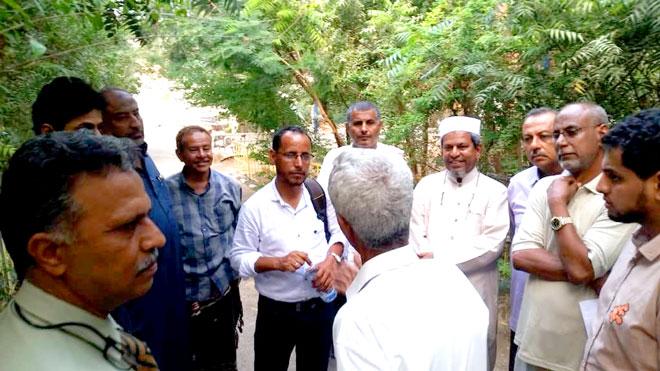 أثناء لقاء استشاري الصندوق مع ناشطين