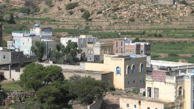 منظر من قرية الشعيب العوابل في محافظة الضالع