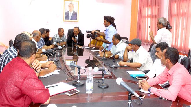 لجنة مناقصات لحج تقر إجراءات عدد من المشاريع