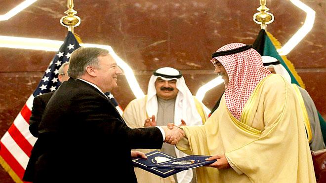 حرب اليمن حاضرة في «حوار إستراتيجي» لـ«بومبيو» مع حكومة الكويت