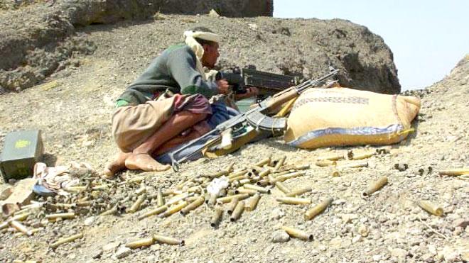 الجيش والمقاومة يصدان هجوما حوثيا في جبهة الحشاء