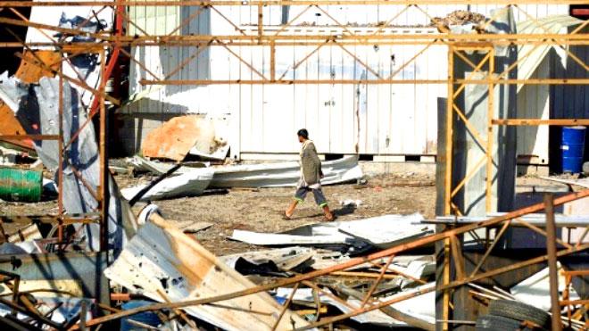 التحالف يشن غارة على مخزن طائرات بلا طيار تابعة للحوثيين في صنعاء