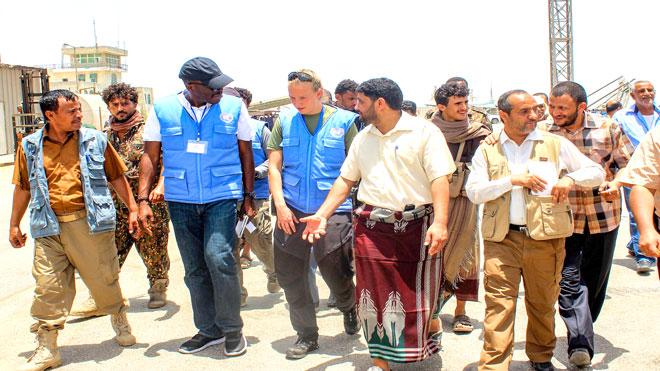 أعضاء بعثة مراقبي الأمم المتحدة