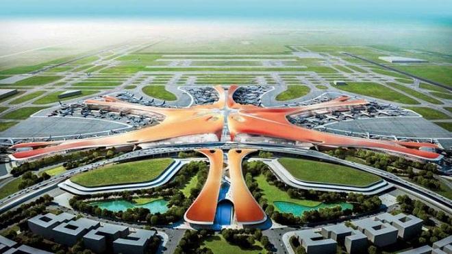 رحلات تجريبية في مطار بكين الجديد الضخم