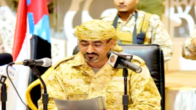 رئيس المجلس و القائد الأعلى لقوات المقاومة الجنوبية عيدروس قاسم الزُبيدي