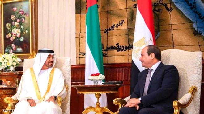 الرئيس المصري عبد الفتاح السيسي و الشيخ محمد بن زايد آل نهيان