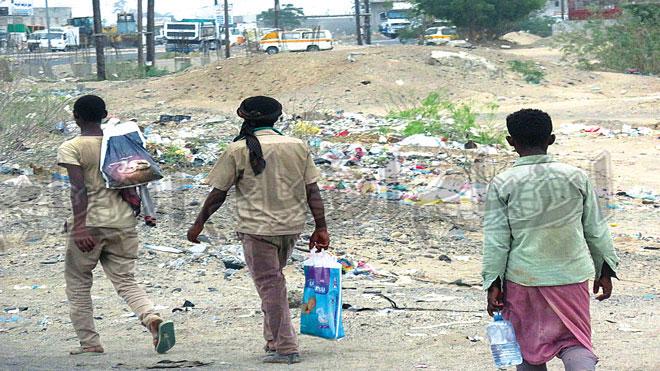 عودة انتشار المهاجرين الأفارقة بلحج