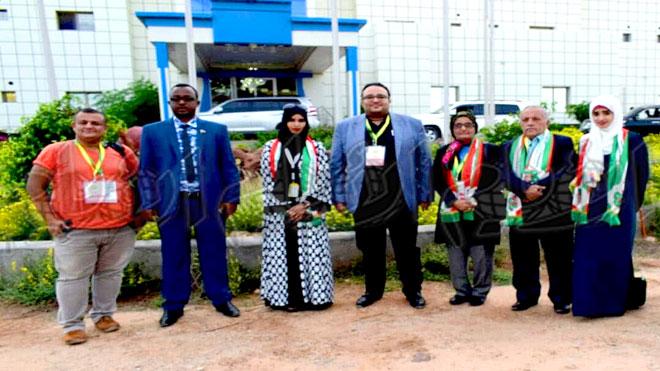 الوفد الإعلامي برفقه مسؤولين من وزارة خارجية أرض الصومال
