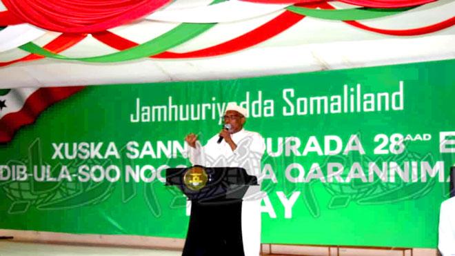 الرئيس موسى بيجي عبدي خلال حفل الاستقبال