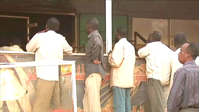 أحد المخابز في العاصمة السودانية