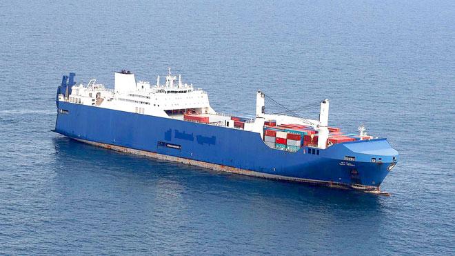 سفينة الشحن السعودية تصل جنوب فرنسا