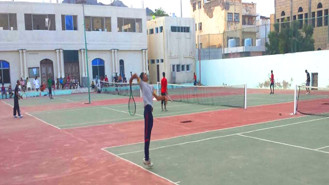 صورة حديثة لنادي التنس العدني