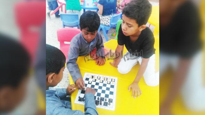 4 انتصارات في منافسات شطرنج دوري الطفولة والسلام
