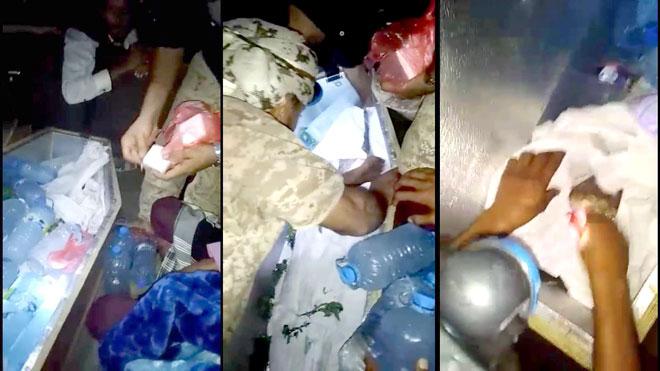 ضبط ذخائر بجانب جثة منقولة من مأرب إلى عدن