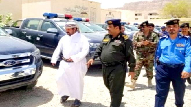 التحالف يدعم وادي حضرموت بمركبات لتعزيز الأمن