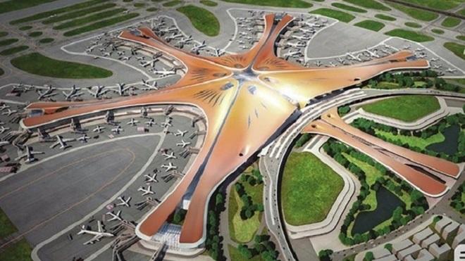 مطار ضخم من تصميم زها حديد يفتتح في بكين في الذكرى السبعين للنظام الشيوعي