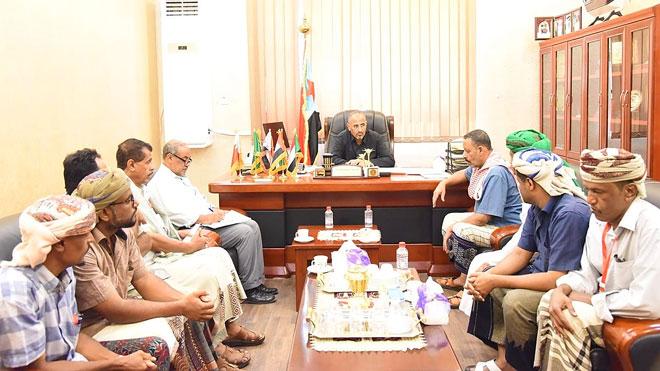 لقاء الزبيدي مع عدد من مقادمة ووجهاء مديرية ساه في عدن