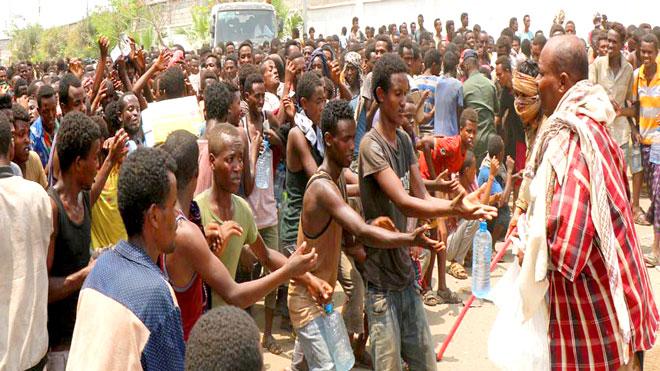 المهاجرون الأفارقة بعدن
