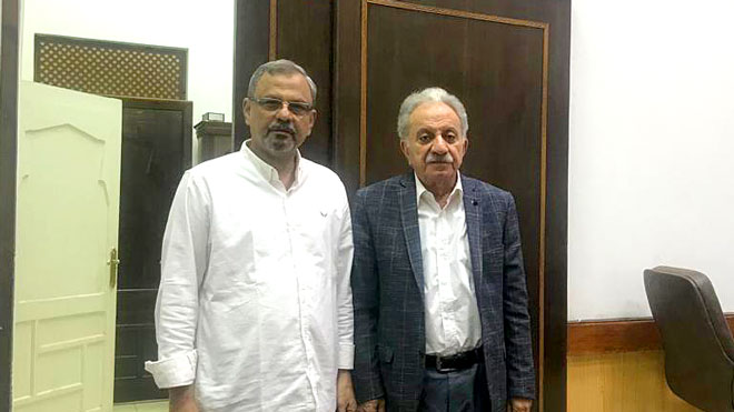 المهندس طارق عبده علي والمهندس عبدالرحمن البصري