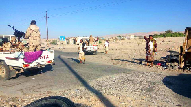 النخبة الشبوانية تحبط تحركات عسكرية للواء 21 في مدخل عتق