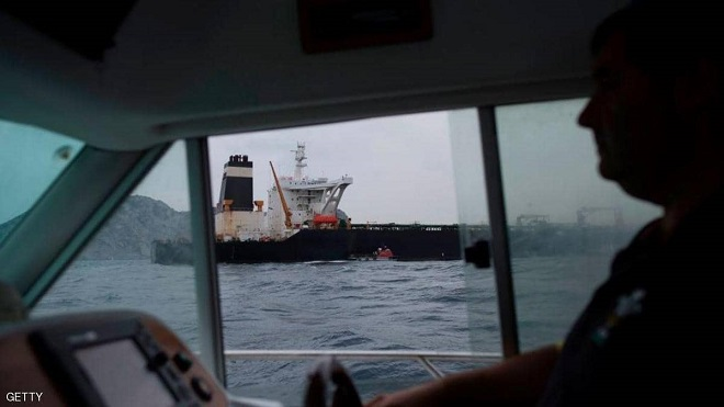 """سفينة """"غريس 1"""" تم توقيفها قرب جبل طارق"""