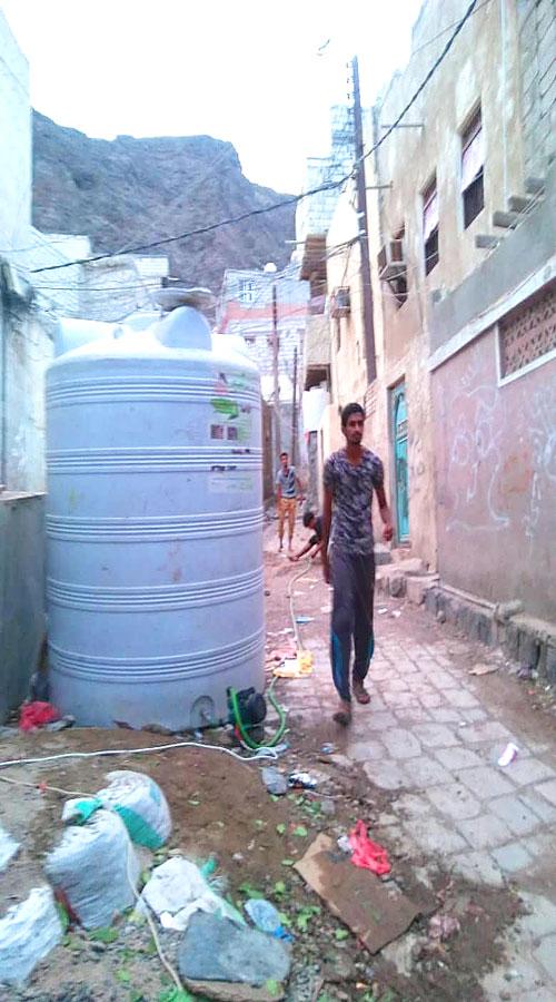 خزان ماء بمنطقة العيدروس