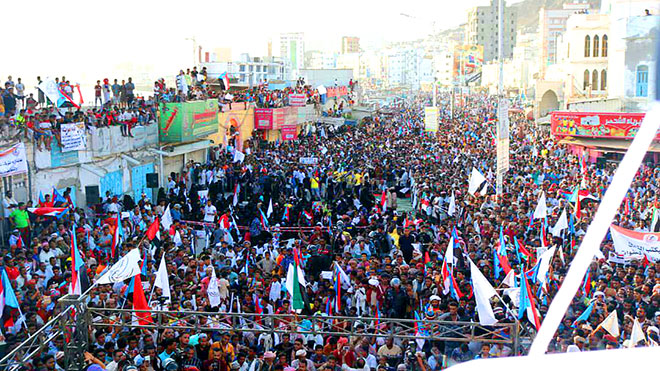 احتشد الآلاف من أبناء حضرموت