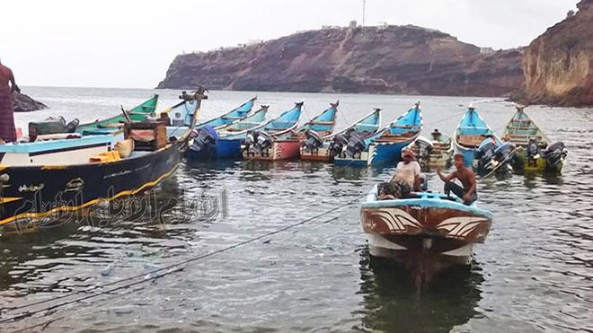 منظر عام لقوارب الصيادين في صيرة