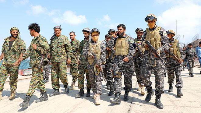 قوات الدعم والإسناد تنتشر في ميناء الاصطياد تنفيذا لاتفاق الرياض