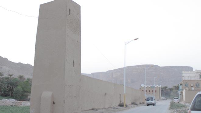 برج المراقبة وسور تريم القديم