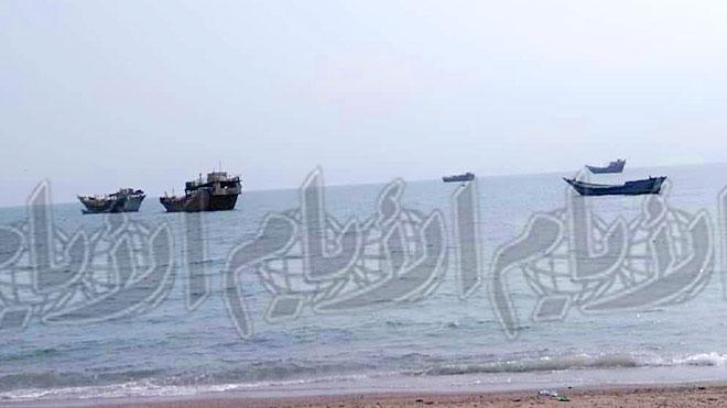 ضبط صورة للقارب «جلبه» في ساحل رأس العارة