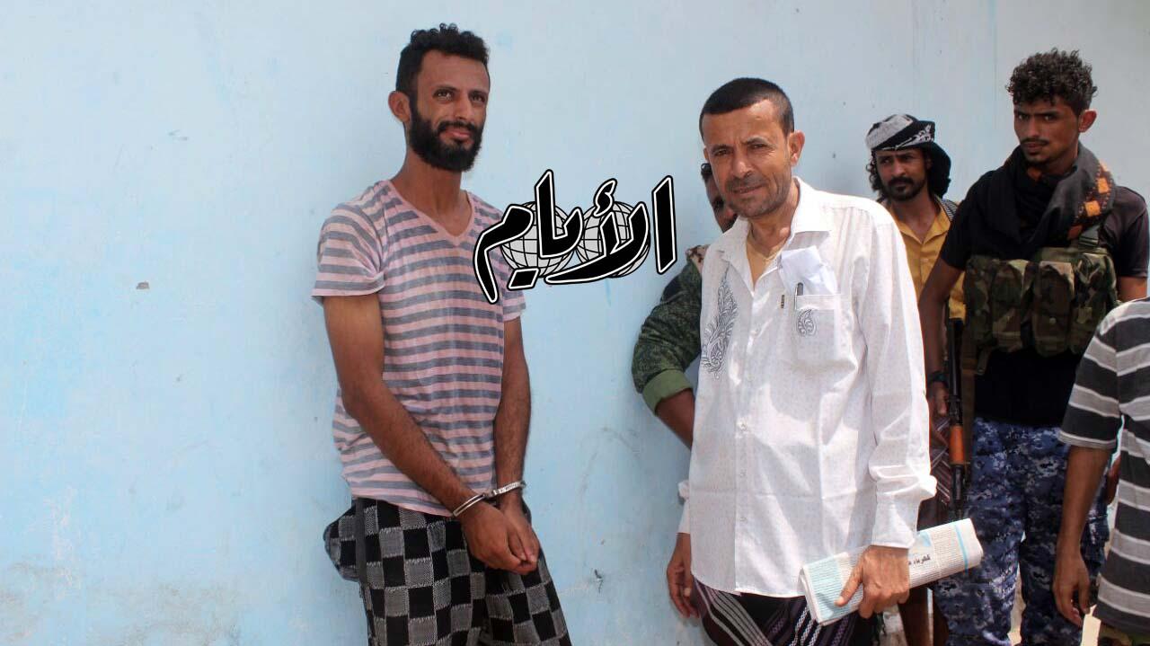 أثناء استلام القاتل في ادارة امن الحوطة