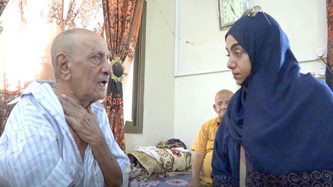 حقوق الإنسان بالانتقالي تتفقد أوضاع نزلاء دار المسنين بعدن