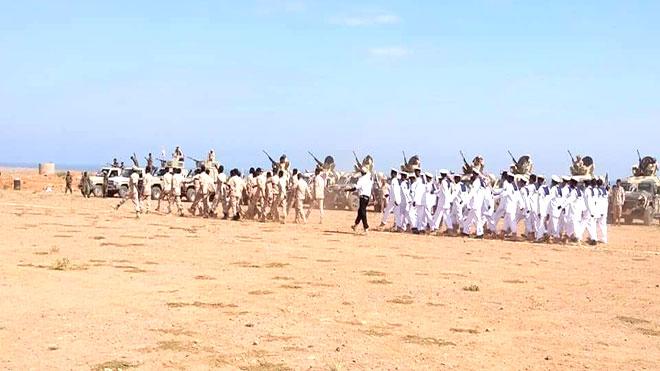القوات الجنوبية في سقطرى تقيم عرضاً عسكرياً مهيباً