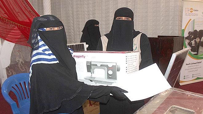 توزيع مشاريع صغيرة لـ 24 امرأة بلحج