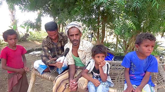 المواطن حسن إبراهيم علي عمر المسيبلي مع أولاده